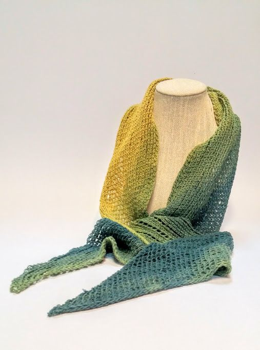 Mustard + Moss Ombre Cotton Knit Scarf available at Harold + Ferne: The Local Goods Co.