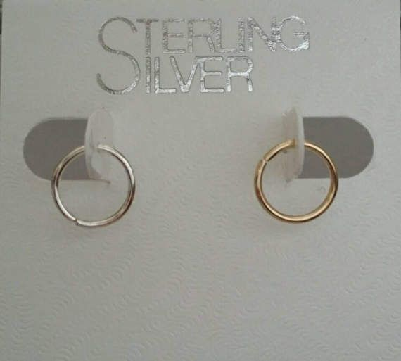 Check out this item in my Etsy shop https://www.etsy.com/listing/521379669/14-kt-gold-hoop-nose-ring-earrings