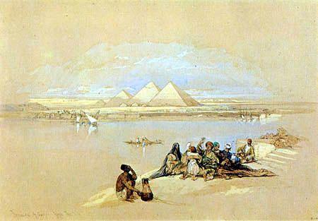 David Roberts - Las pirámides de Gizeh