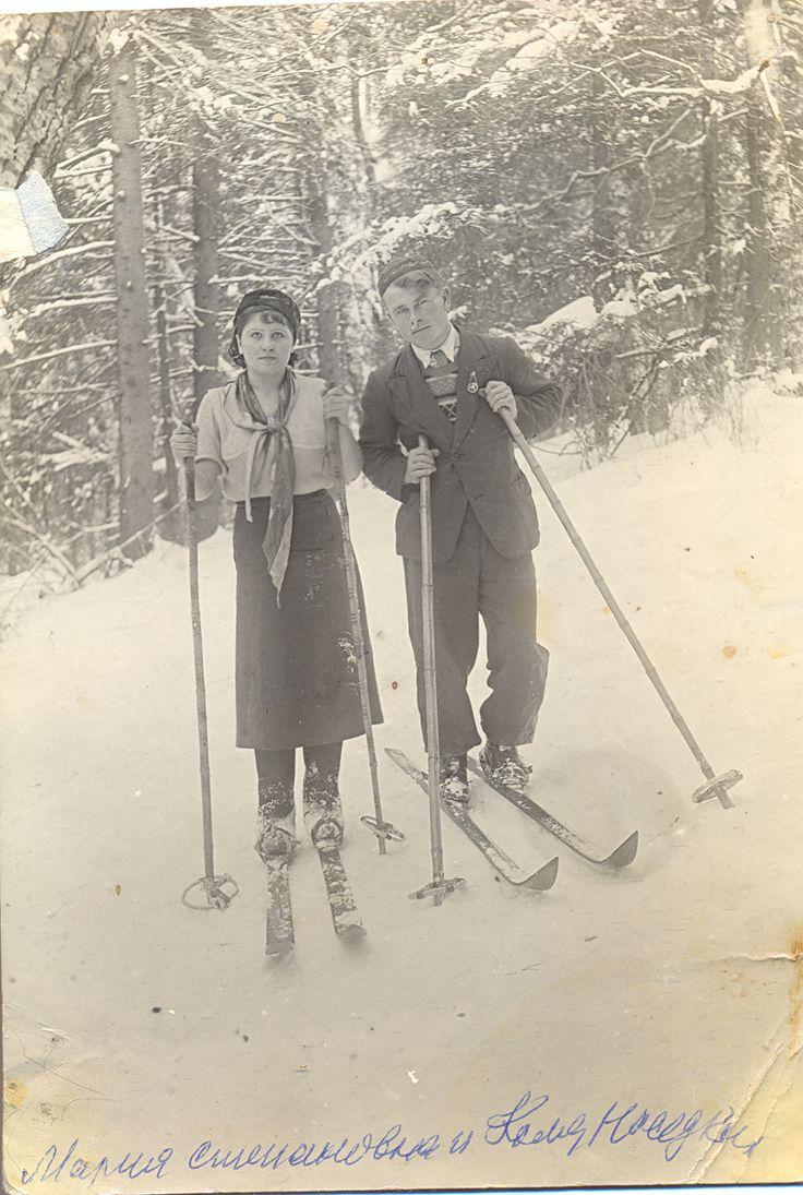 "Надпись на фото ""Мария Степановна и Коля Наседкин"". 1935 год."