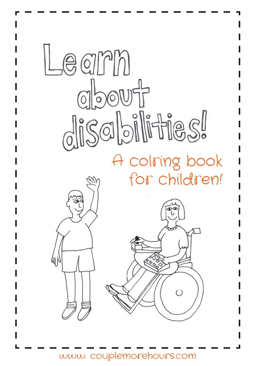 Learn about Disabilities coloring book for children