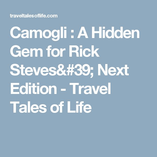 Camogli : A Hidden Gem for Rick Steves' Next Edition - Travel Tales of Life