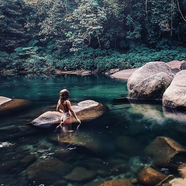 Babinda, Australia Head on an adventure 60km south of cairns to Babinda. 7km west of Babinda is where these boulders lie within the lush green rainforest. Sooooooo beautiful, it's like another world! ✈️ #travelintoliving - Hashtag your pictures and share your destination advice  unknown