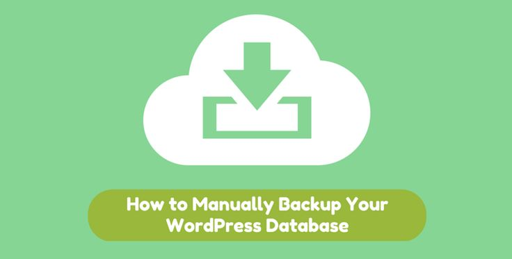 How to Manually Backup Your WordPress Database Using Two Methods!