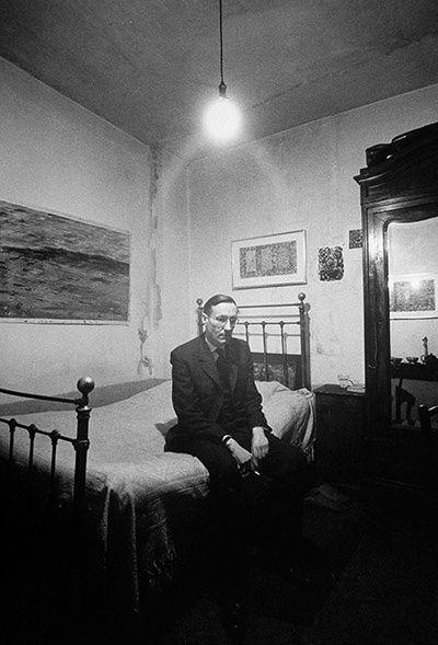 William Burroughs: Burroughs in the Beat Hotel, Paris, 1959 Burroughs in the Beat Hotel, Paris, 1959 Loomis Dean/Getty Images