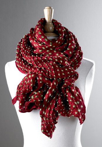 Silk Bandhani Scarf, Scarves, Apparel & Accessories - The Museum Shop of The Art Institute of Chicago
