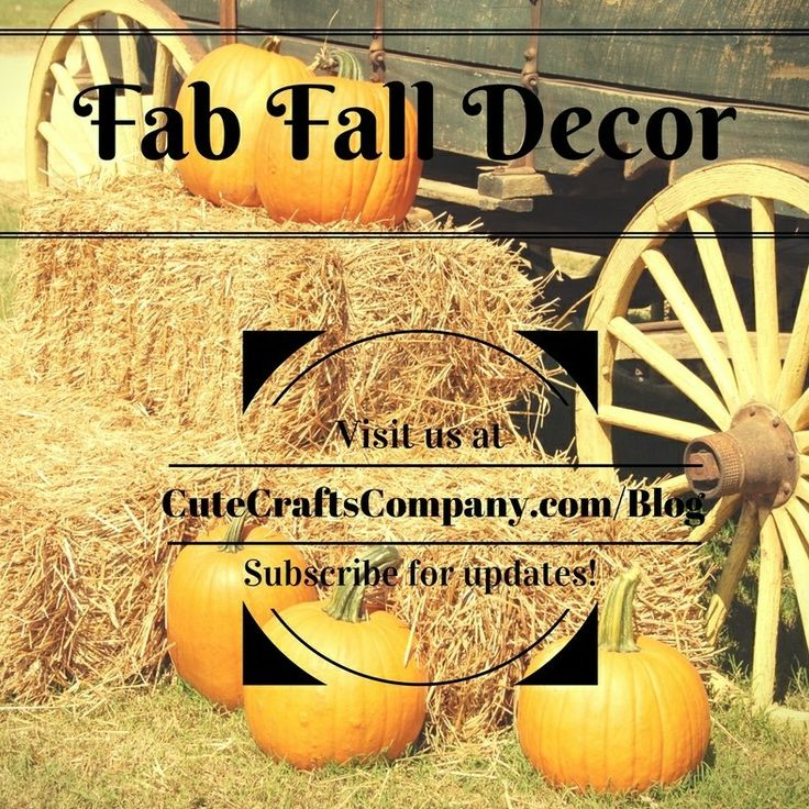 In this blog post by Jennifer Sullivan and the Cute Crafts Blog we explore Fab Fall Decor finds just in time to be autumn ready!
