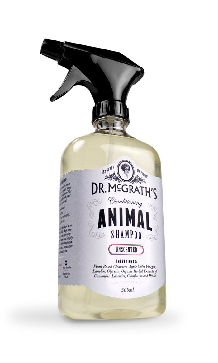 """Dr. McGrath's Animal Shampoo was created in her honor, and a portion of the proceeds go to two different scholarships in her name that support students in Animal Sciences. With a touch of humor the packaging and website pay tribute to Dr. McGrath and the time period she lived in."""