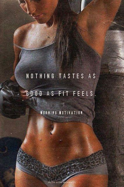 Nothing tastes as good as fit feels