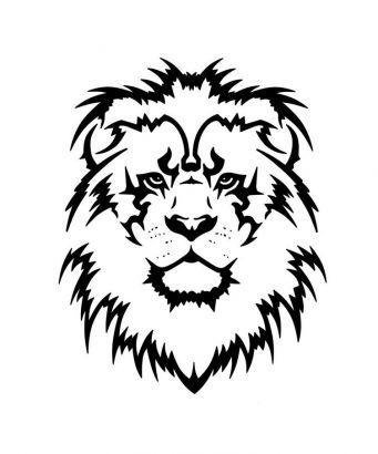 Lion Head Free Tattoo Design.