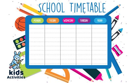 School Timetable Template Free Download Cute Timetable Template Uk School Timetable Template In 2020 School Timetable Free School Printables Timetable Template