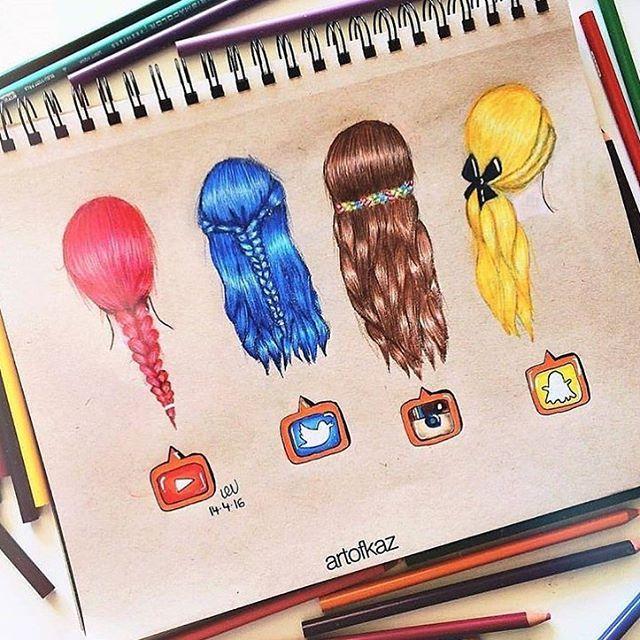 Social Media Hairstyles! Follow us  @just_arts_help . By @artofkaz
