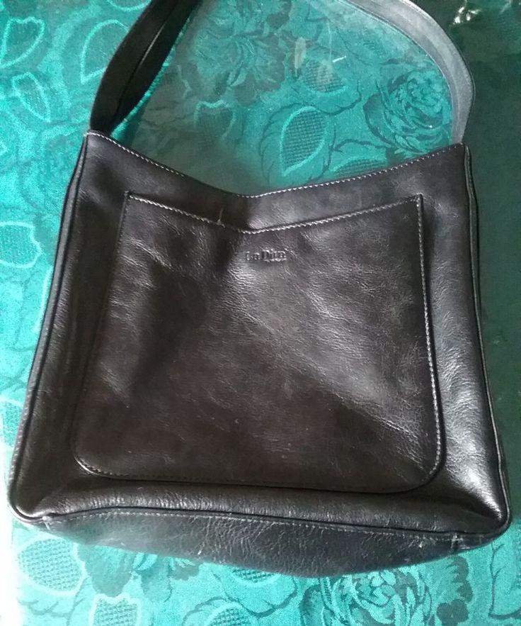 Leather Handbag by La Diva Real Leather Shoulder Bag Black Shoulder Bag | Clothing, Shoes & Accessories, Women's Handbags & Bags, Handbags & Purses | eBay!