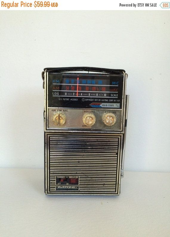 on sale vintage katone ac dc solid state am fm portable radio model k 1920 etsy favorites. Black Bedroom Furniture Sets. Home Design Ideas