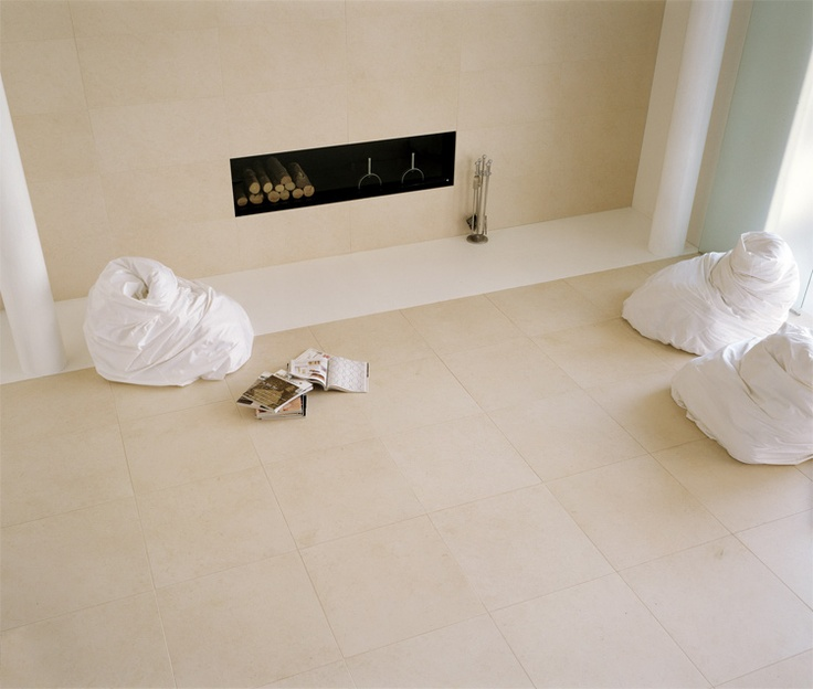 The ability of being furniture products, makes the porcelain stoneware tiles of Floor Gres ideal to tile the daytime area of any home. This light beige tile is from the collection Stontech/1.0 color Stonwhite/3.0.