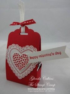 Saturday, January 18, 2014 Today I have a Valentine Treat box to show you. It is made using the new Scallop Tag Topper Punch #133324 $22.95. At my downline meeting Thursday night Donne shared her Scallop Tag Topper Punch Box...