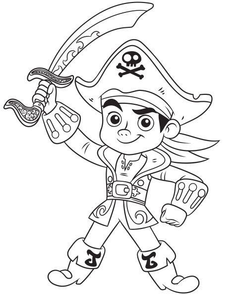 dibujos para colorear de capitán jake pirata  imagenes de