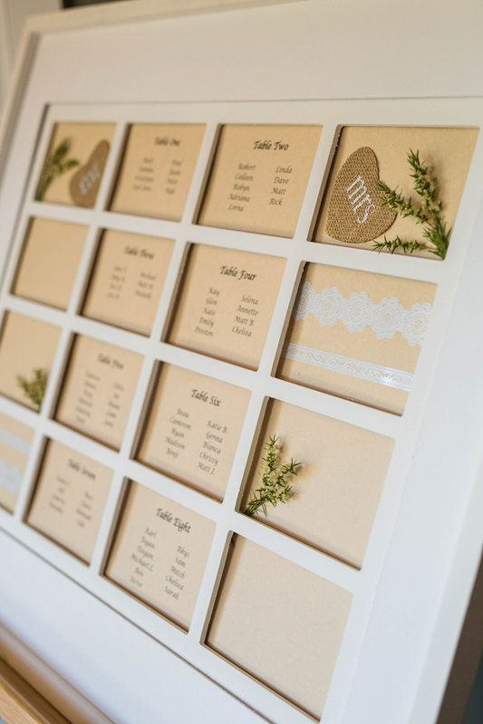 Framed seating plan //  PC: Curly Tree Photography
