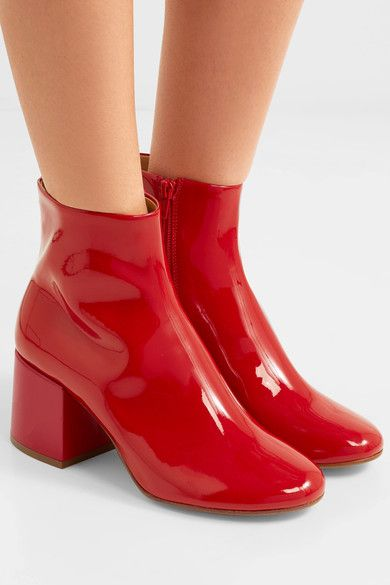 0ffc3355ff MM6 Maison Margiela - Patent-leather ankle boots in 2019 | Shoes ...