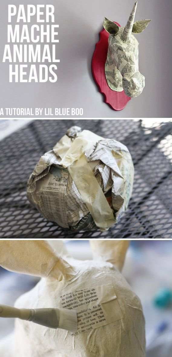 Paper Mache Animal Head