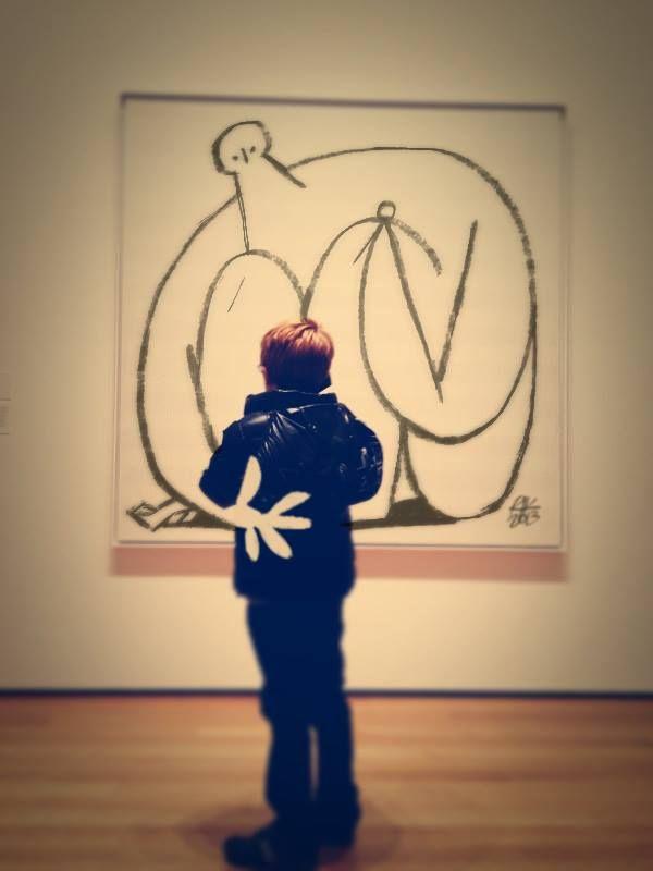 """Riccardo Guasco """"Pensiero di bambino su tela monocroma del MoMA"""""""