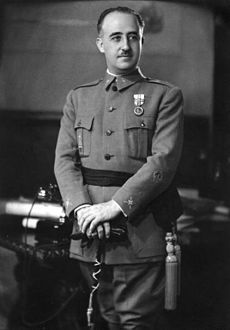 Francisco Franco photo 1936. Dictator of Spain from 1939 until his death in 1975