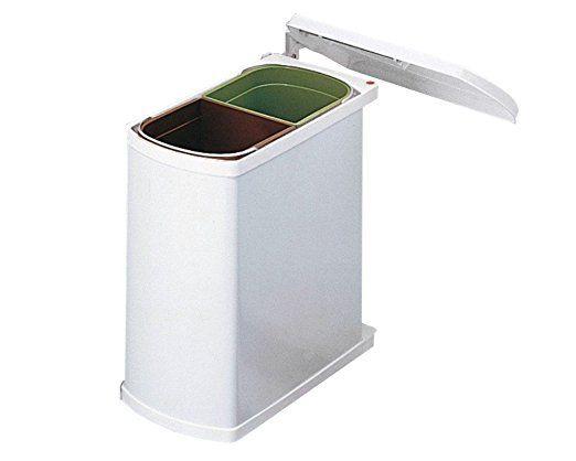 Duo 3416 - weiß Abfallsammler / Trennsystem / Mülleimer