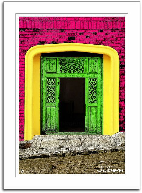 Colombian door (wonder if the color is natural)
