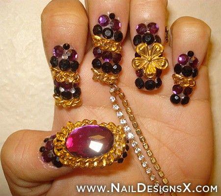 weird nail design » Nail Designs & Nail Art
