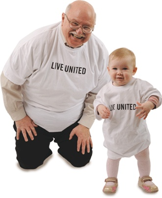 United Way - volunteers come in all sizes and ages