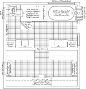 13 X 7 Master Bath Plans Master Bath Closet Layout