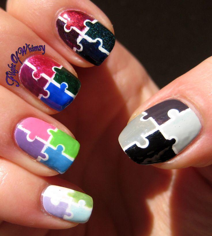 Ombre Puzzle: Puzzlenail Nailart, Puzzle Nails, Naildesigns Puzzlenails, Puzzlenails Nailartdesigns2015, Puzzles Nails, Design Puzzlenail, Nail Art Designs, Nails Art Design, Nailart Naildesigns2015