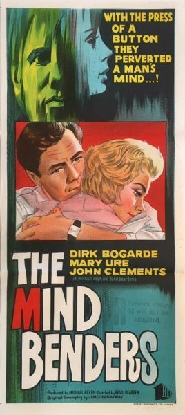 The Mind Benders original 1963 Australian/NZ Daybill movie poster, staring Dirk Bogarde and Mary Ure. Available for purchase from our website.