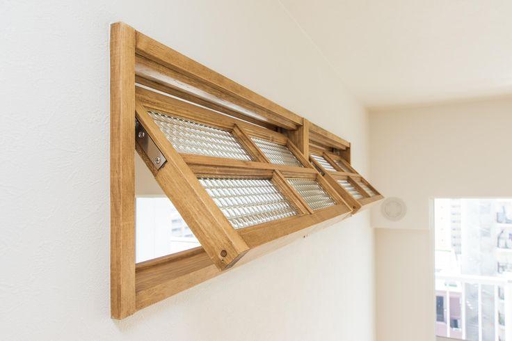 3室内窓、通気性、木枠、木製、ガラス、一歩