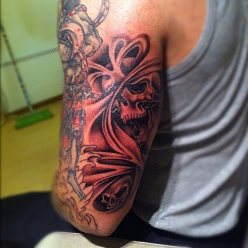Tattoo Sleeve Filler Ideas For A Woman: 40 Best Sleeve Tattoos Skulls With Smoke Images On