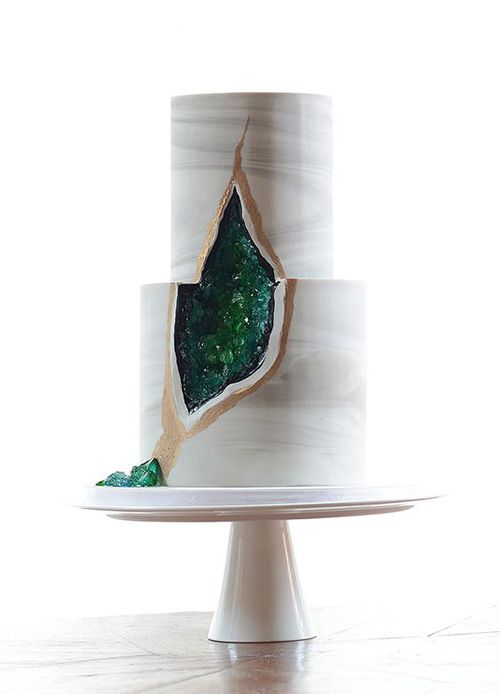 The New Geode Wedding Cake Trend That's Taking the Internet By Storm | Brides.com