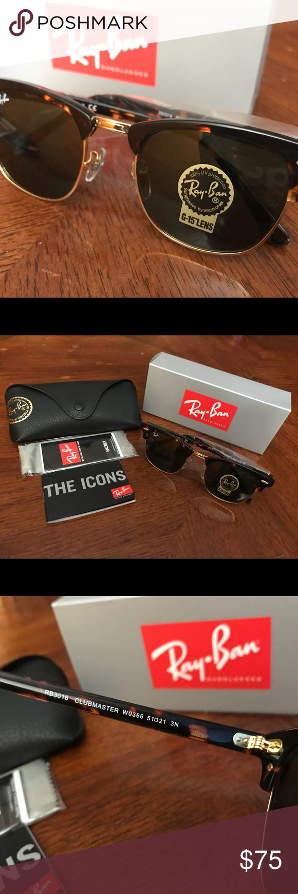 CLUBMASTER TORTOISE CLUBMASTER TORTOISE 51MM                                                       100% AUTHENTIC    SAME DAY SHIPPING!!! Ray-Ban Accessories Glasses
