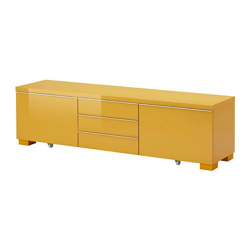Ikea Besta Burs Yellow Living Room