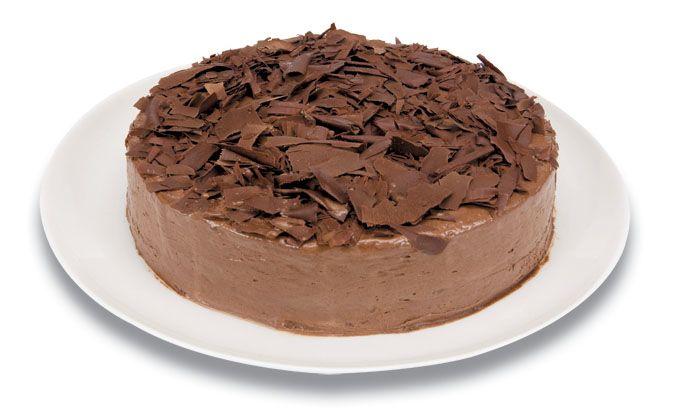 Expresso dos Sabores   Torta Chocomousse com Raspas -Delicioso brownie, coberto com creme de chocolate, decorada com raspas de chocolate meio amargo.