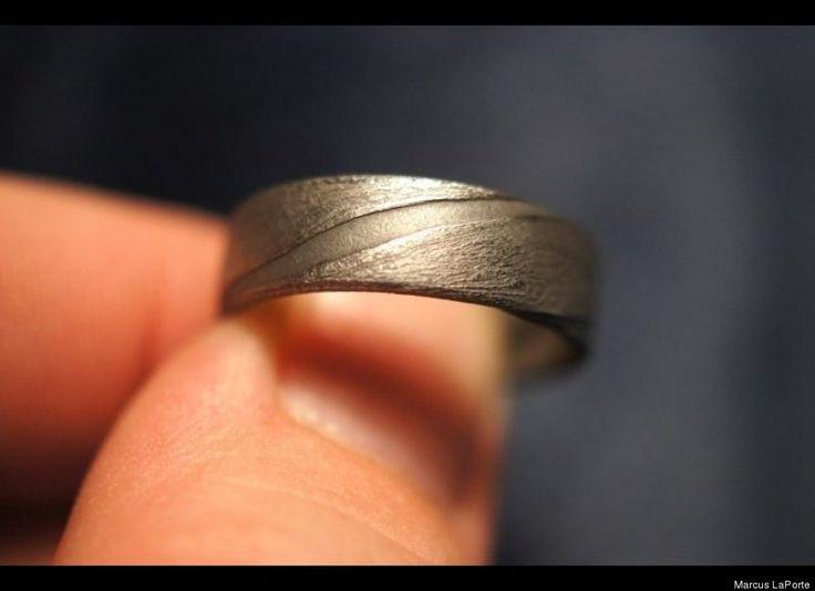 Made Own Meteorite Wedding Ring Marcus