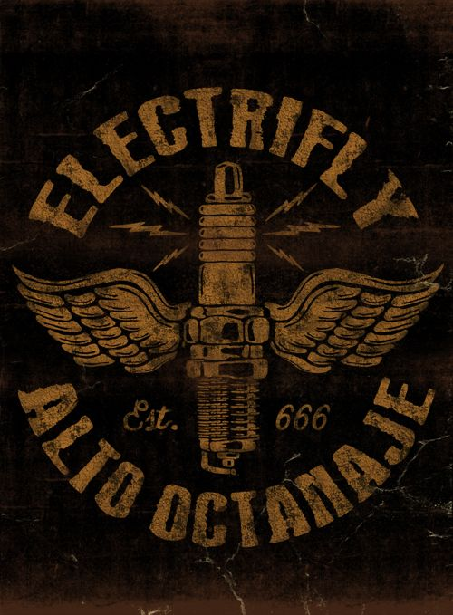 ELECTRIFLY - LA MARCA DEL DIABLO by Maleficio Rodriguez, via Behance