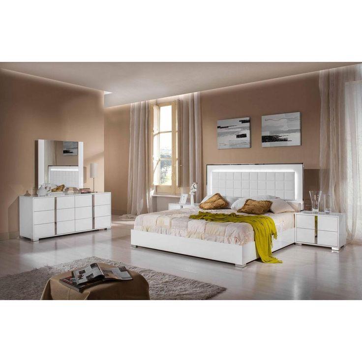 Modrest San Marino Modern White Bedroom Set - Overstock™ Shopping - Great Deals on Beds