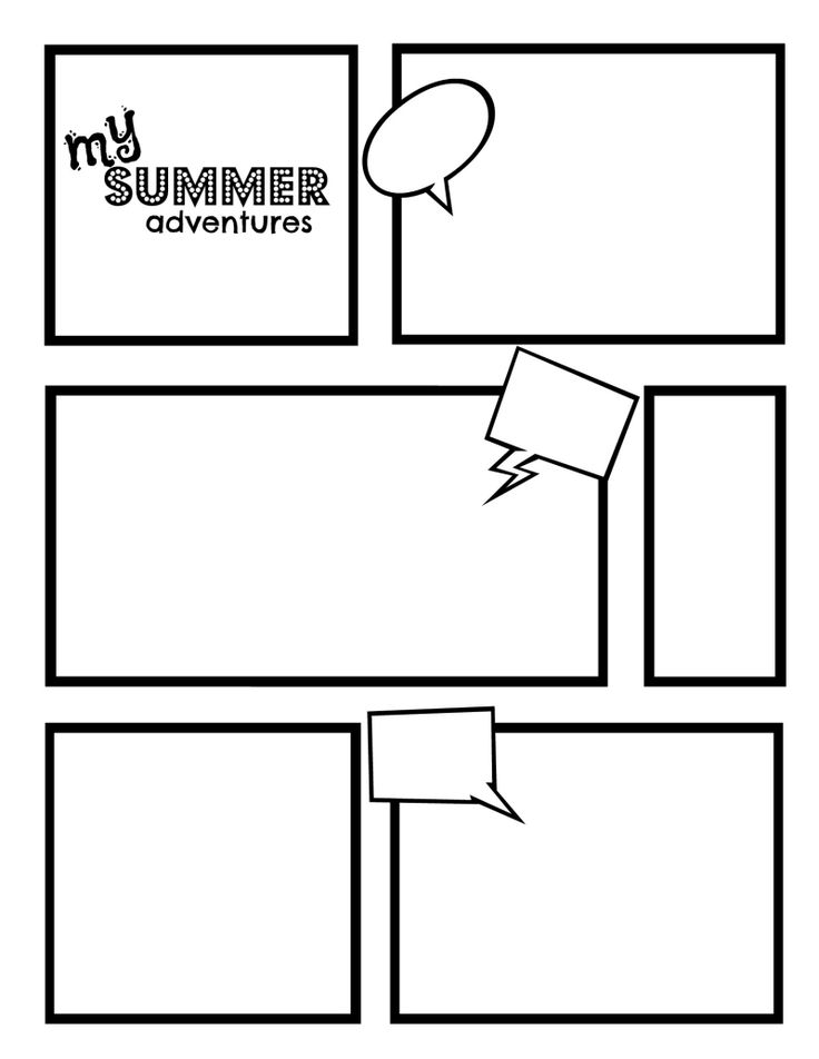 Comic strip template best template collection for Blank book template for kids