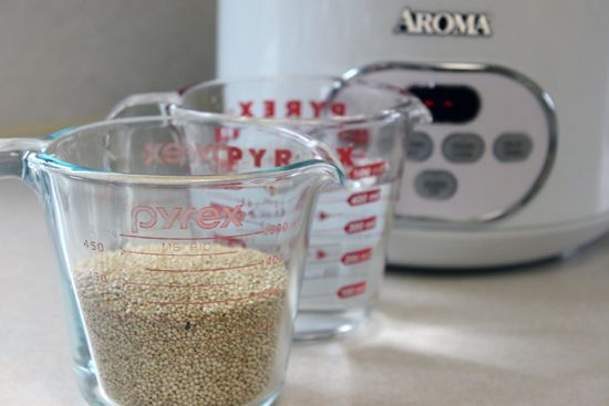Cook quinoa in the rice cooker (shhh, don't tell the rice)