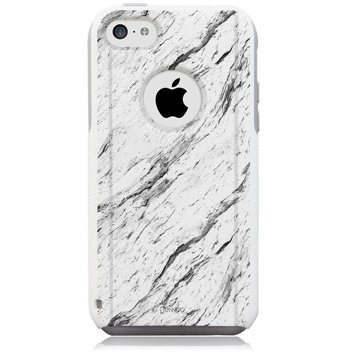 iPhone 5C Case White Hybrid Calacatta Marble by Unnito