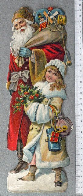 Jultomte-med-flicka-stort by Cilla in Sweden, via Flickr