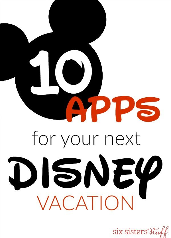 10 apps for your next disney vacation