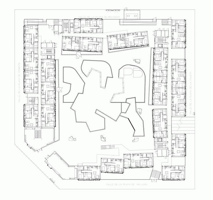 13 best social housing plan images on pinterest