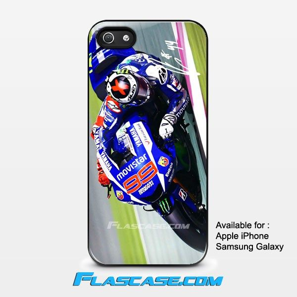 Jorge Lorenzo in Action Apple iPhone 4/4s 5/5s 5c 6 6 Plus Samsung Galaxy S3 S4 S5 S6 S6 EDGE Hard Case #AppleiPhoneCase #SamsungGalaxyCase