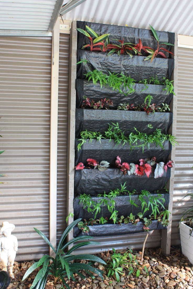 Diy Vertical Garden Frame Made From Timber Slats Covered
